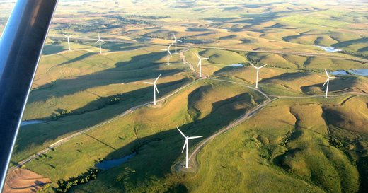 wind farm from air
