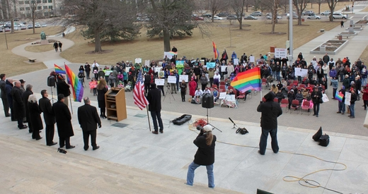 Religious freedom rally - small
