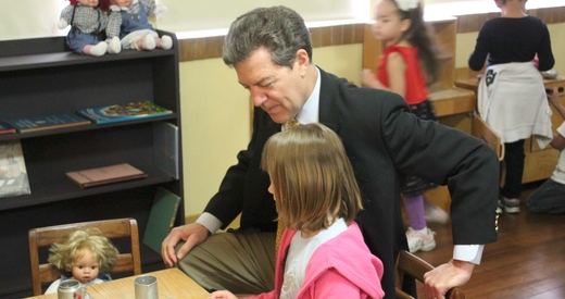 Brownback and student