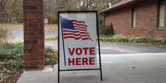 NEW VOTE SIGN