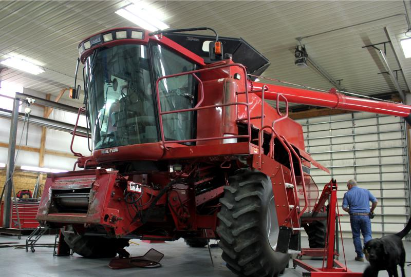 Many farmers are used to fixing their own machinery, but without the right software from tractor manufacturers they are effectively locked out.  (Photo by Grant Gerlock / Harvest Public Media)