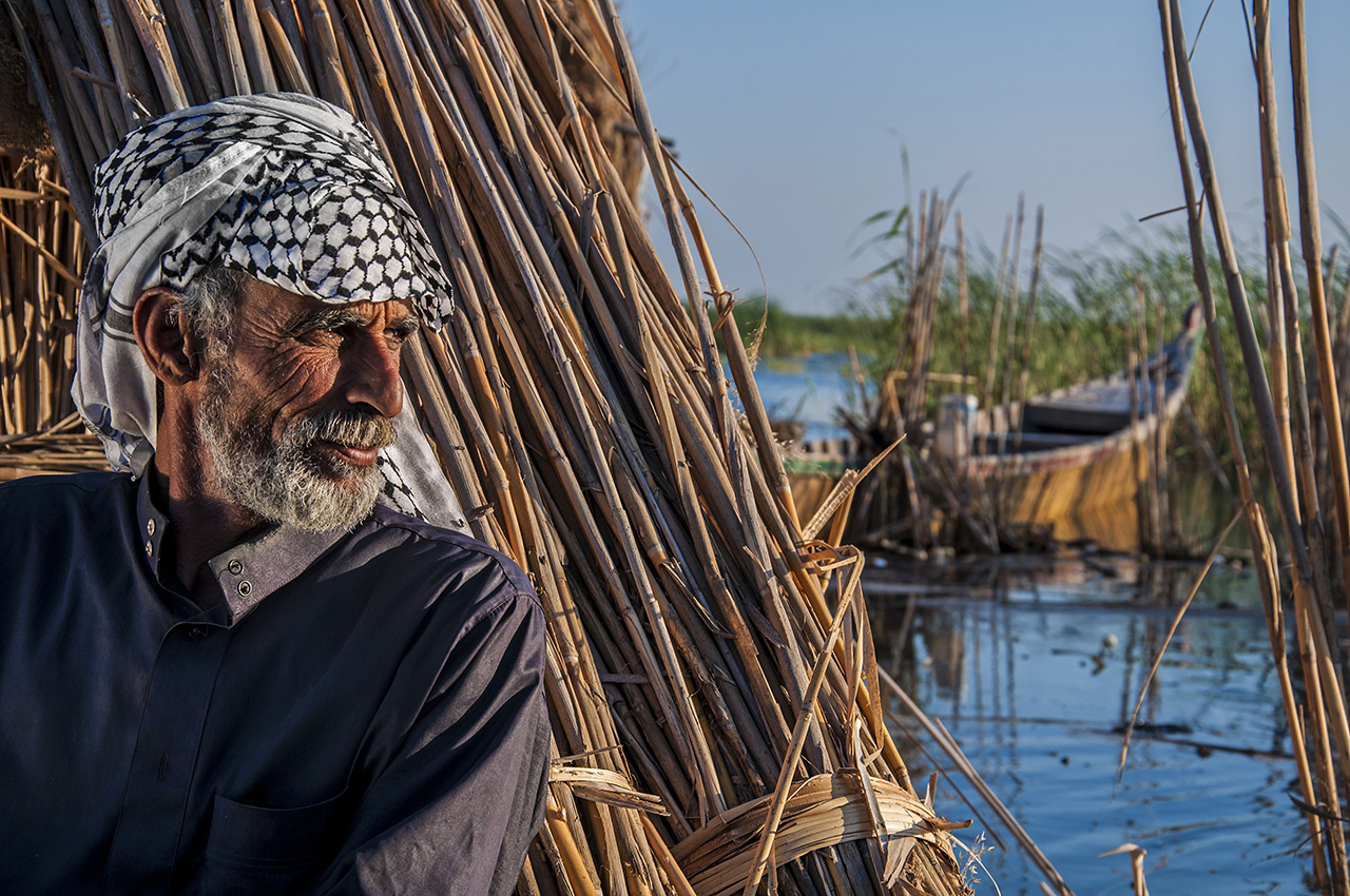 """""""Man in the Reeds"""" by Saman Mohamad Aziz Aljaff"""