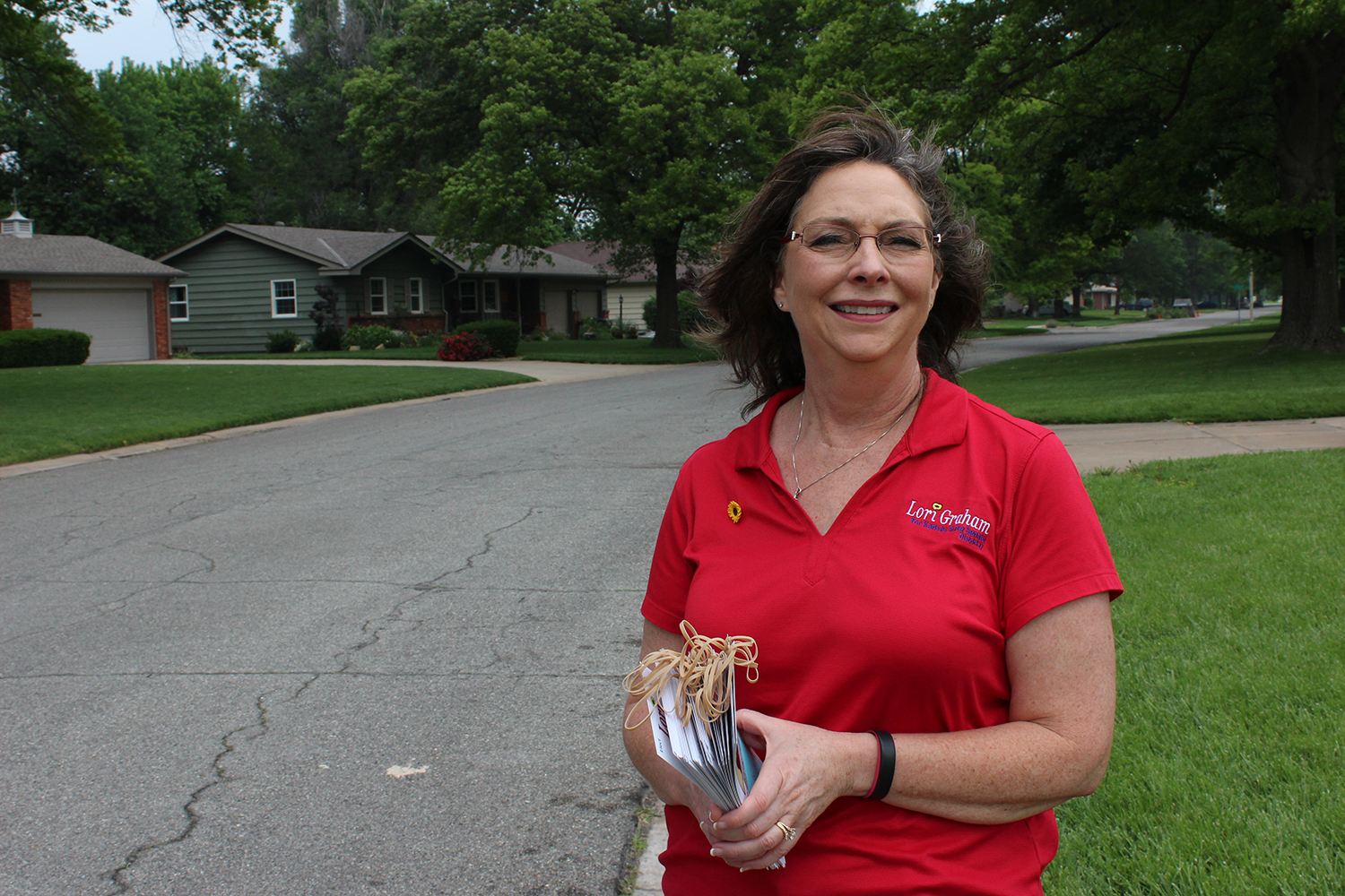 Lori Graham is running for the Kansas State Senate. She's facing State Representative Gene Suellentrop in the August 2 primary. (Photo credit: Sean Sandefur)