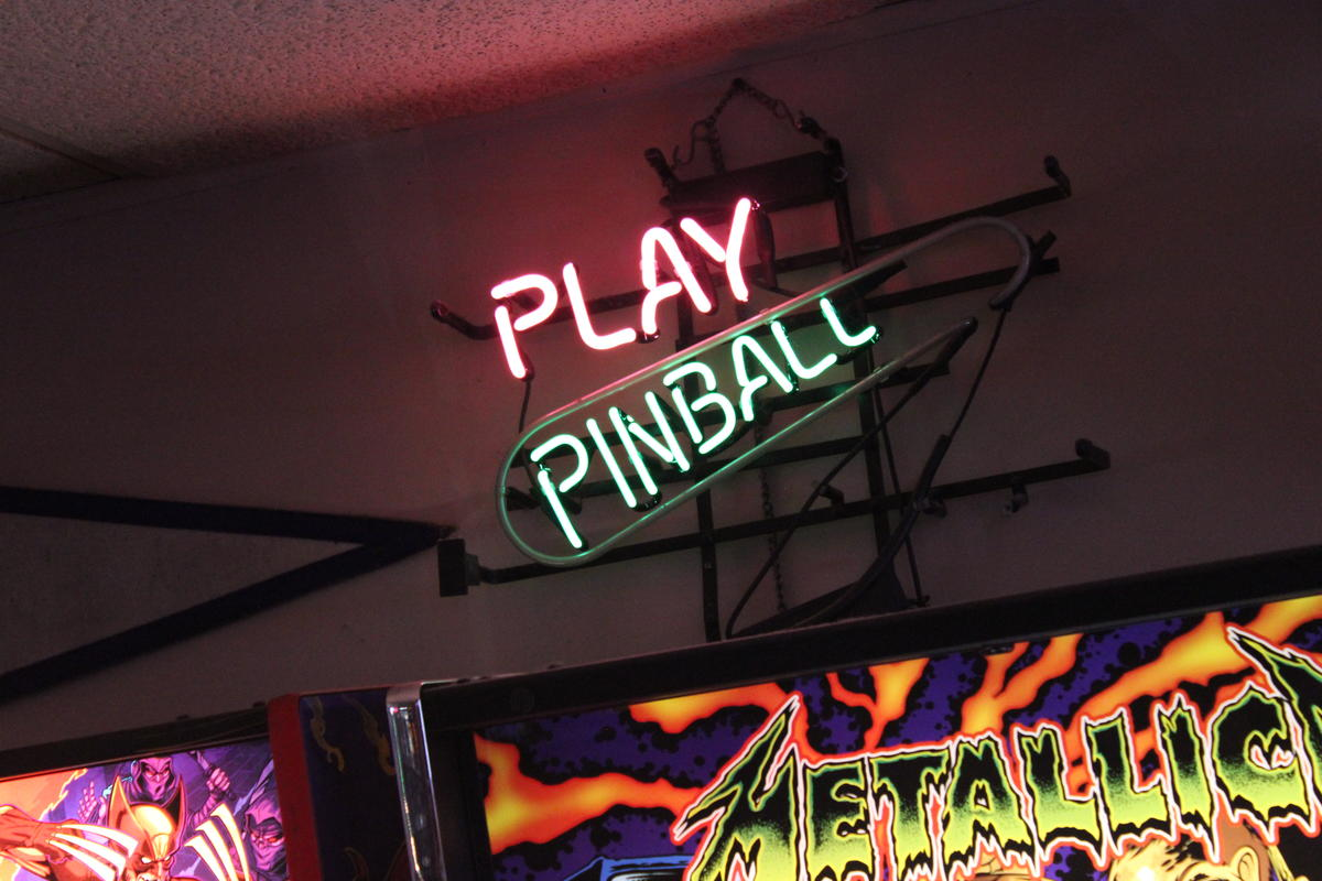 The 403 Club in Kansas City, Kansas, is a place to play pinball and socialize with players of all skill levels. (Image credit: Kyle Palmer/KCUR)