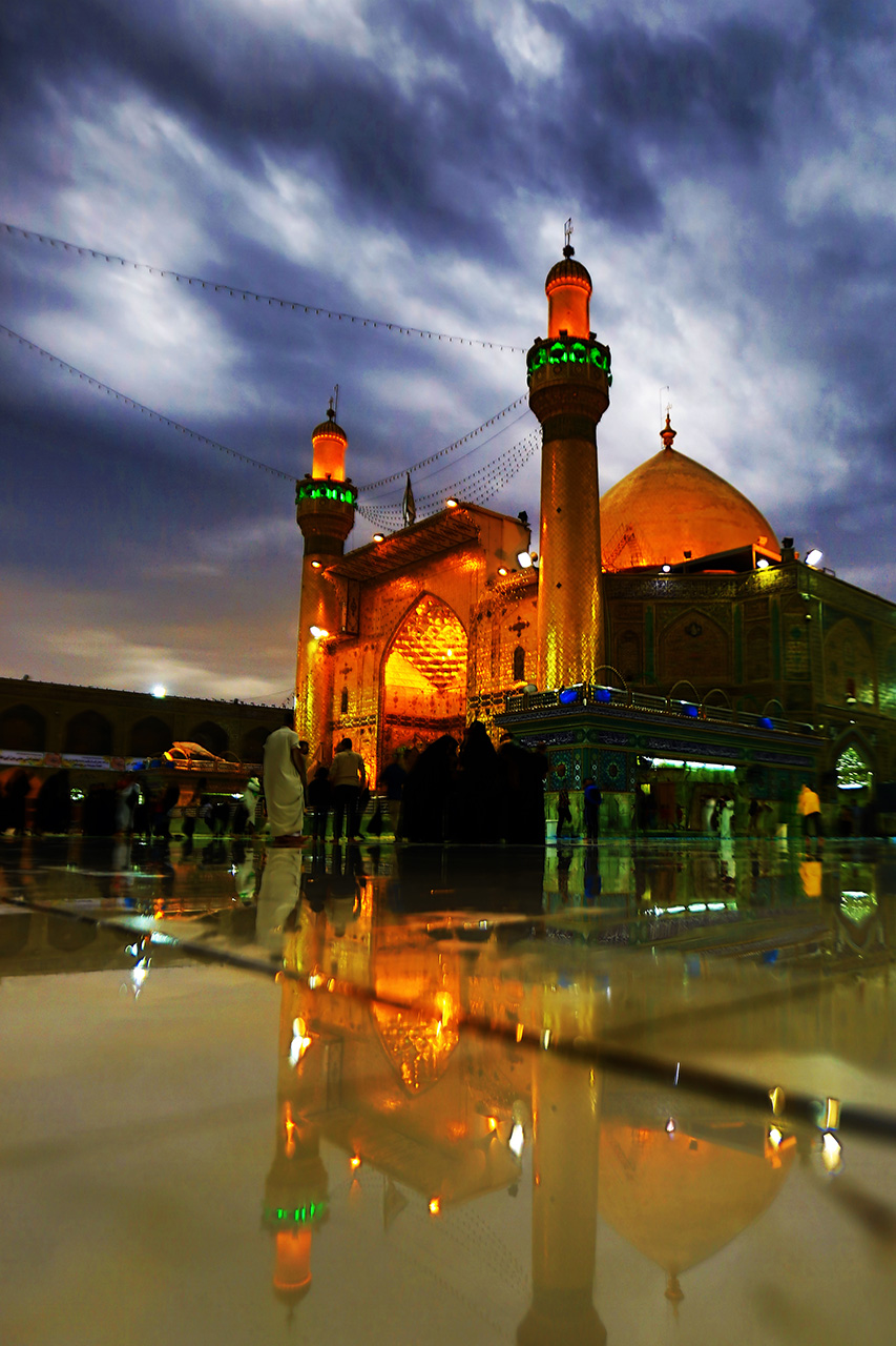 """""""The Reflection of the Shrine of Imam Ali (Peace Be upon Him) on a Rainy Day"""" by Jawad Luay Alyassiry"""