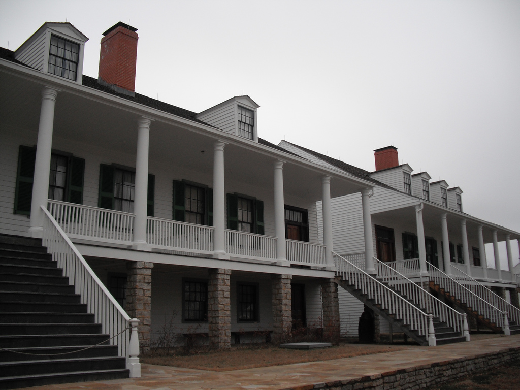 Fort Scott National Historic Site. Established and garrisoned by the U.S. Army from 1842-1853. (Flickr/Matt Turner)