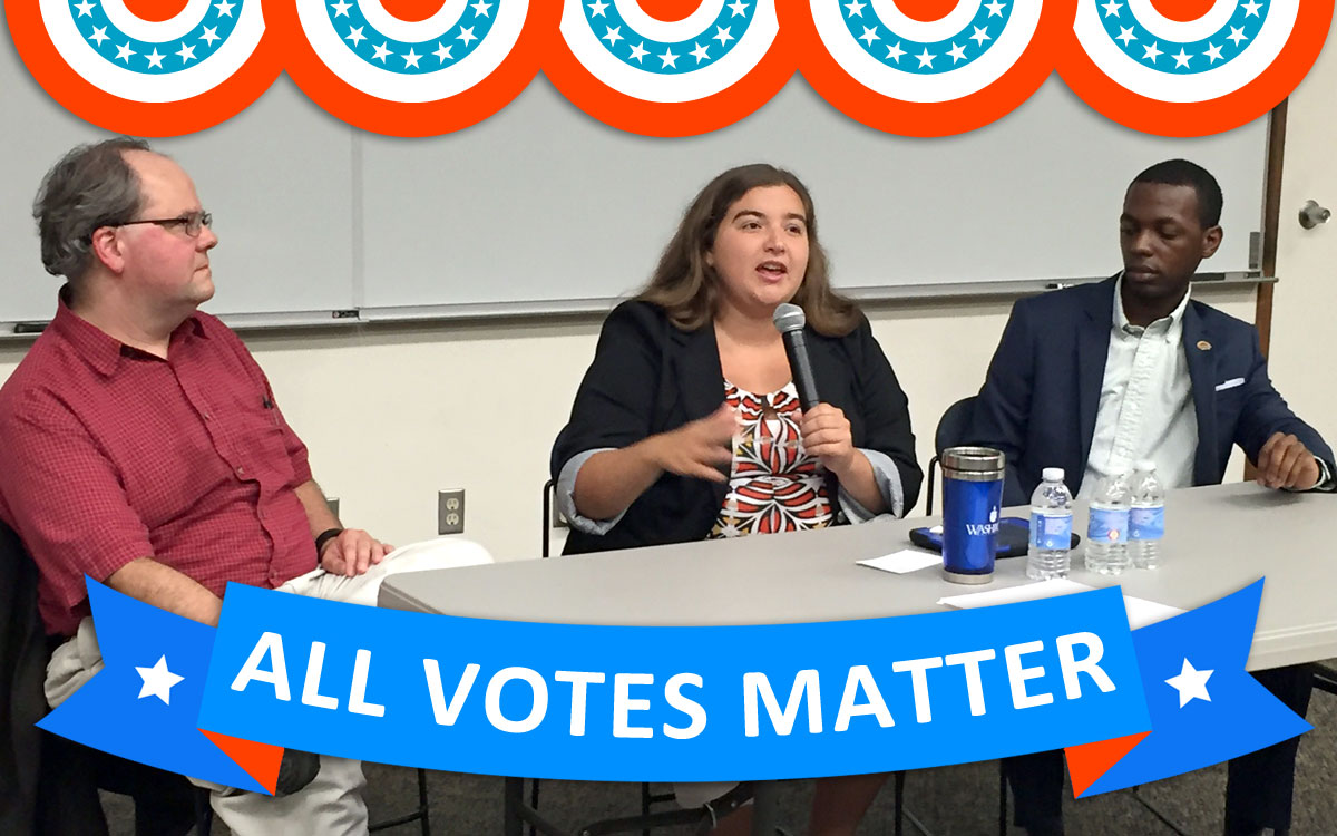 """This weekend, on Sunday, 11/6, tune in to hear """"Do All Votes Matter?"""" With the election right around the corner, it's a Washburn University panel discussion on voter registration and voting rights, moderated by Washburn law professor and host of KTWU's I've Got Issues, Janet Thompson Jackson."""