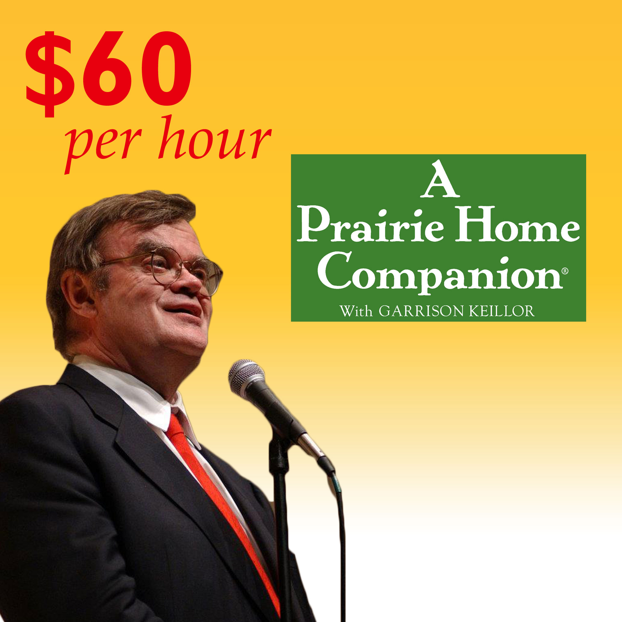 "Garrison Keillor hosts ""A Prairie Home Companion."""