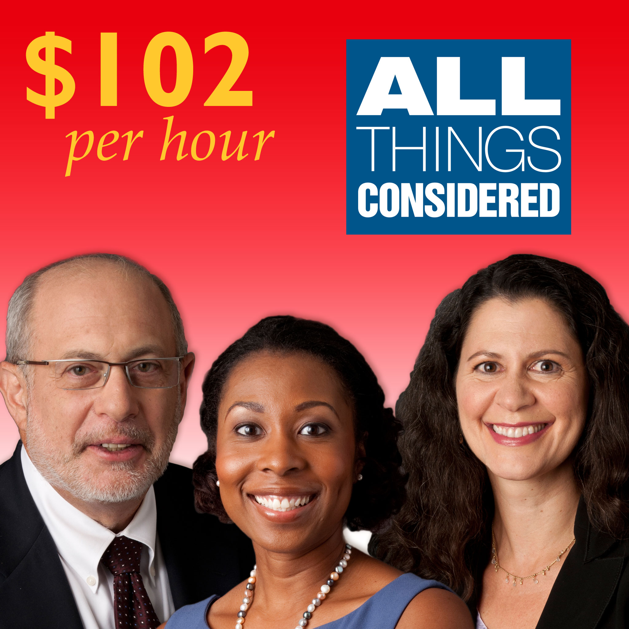 "The hosts of ""All Things Considered,"" Robert Siegel, Audie Cornish and Melissa Block."