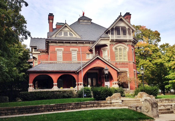 This is just one of many supposedly haunted mansions in Atchison.  (Photo by J. Schafer)