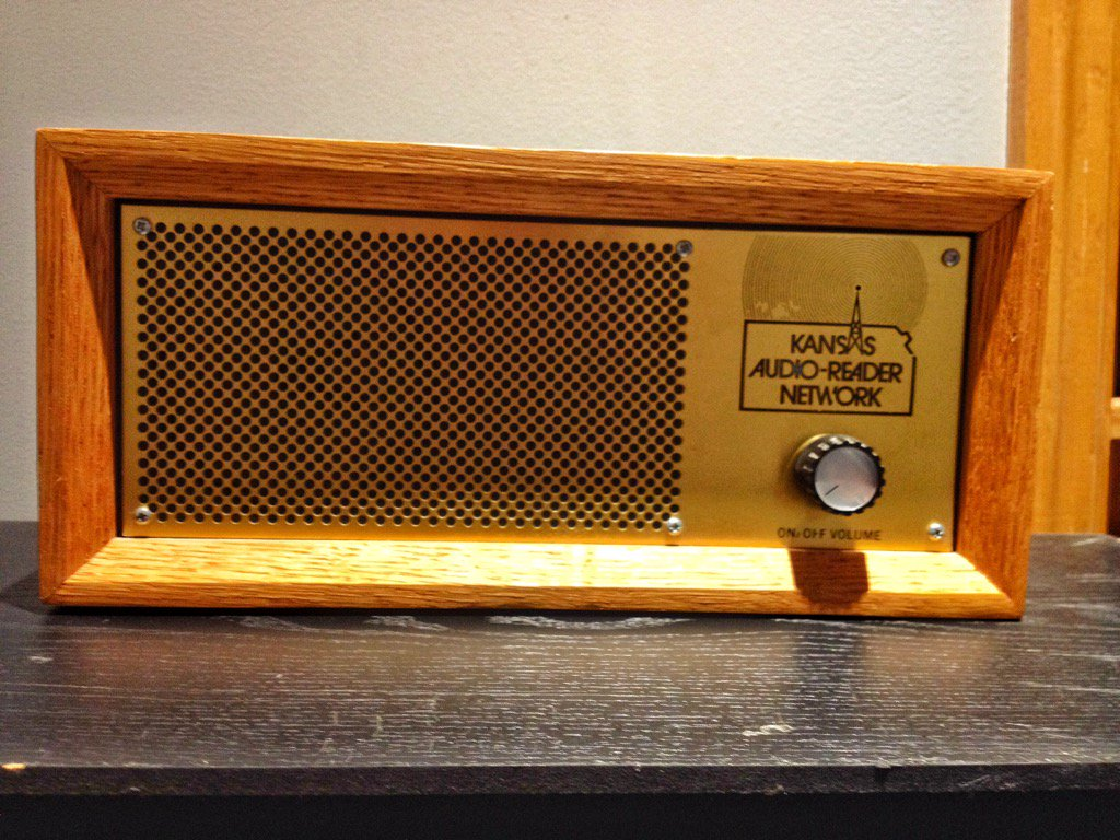 Audio-Reader provides its service using special radios like this, where listeners can hear newspapers, books and magazines being read by volunteers. (Photo by J. Schafer)