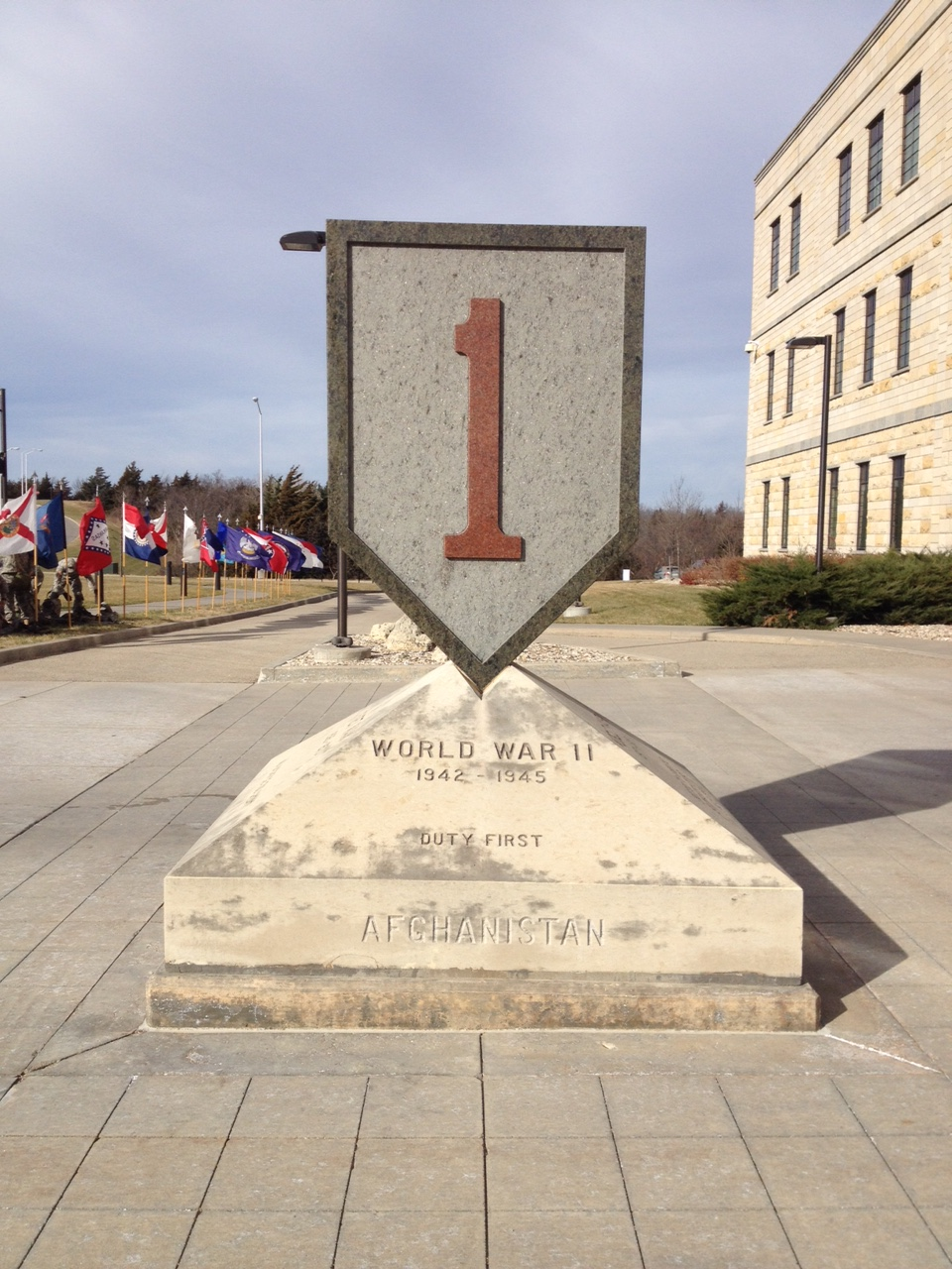 The Big Red One is the nickname of the First Infantry Division, due to the division's insignia - a big, red one, signifying 1st. (Photo by J. Schafer)
