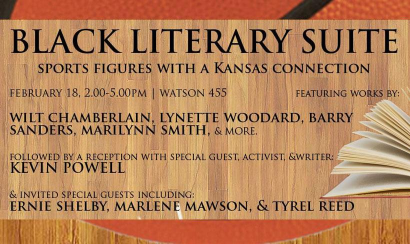Mr. Powell will also make an appearance at the Black Literary Suite in Watson Library on February 18th.