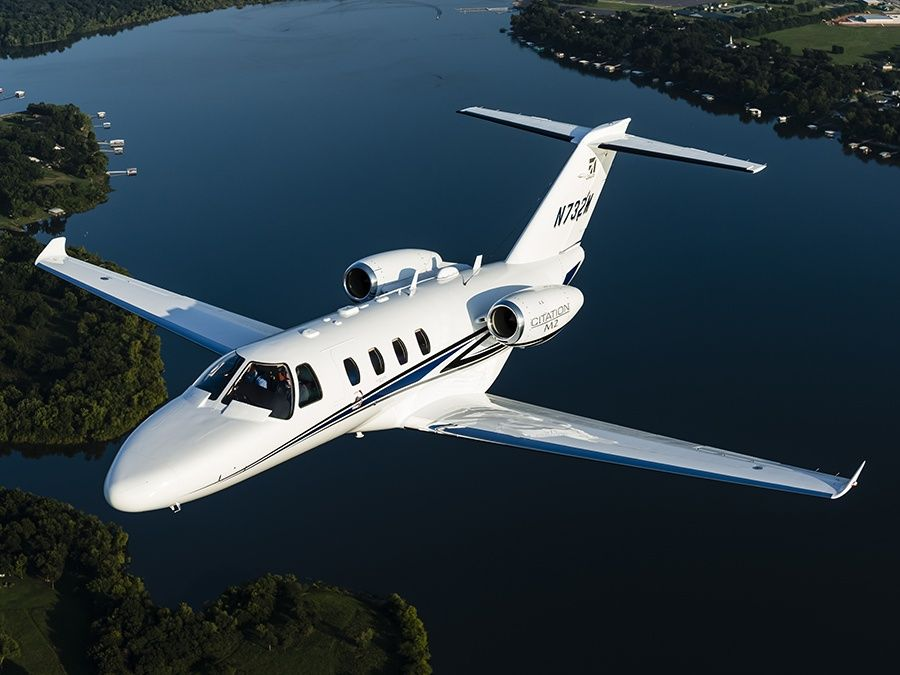 Cessna also makes business and personal jets, like this Citation M2 (Photo by Cessna)