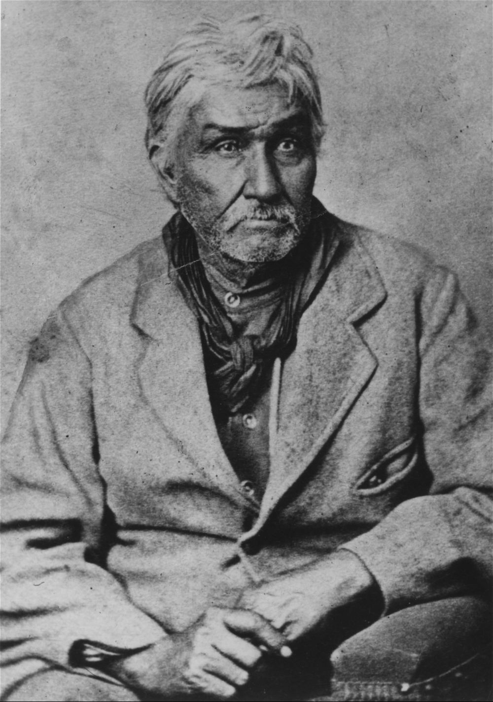 Jesse Chisholm, an Indian trader, guide and interpreter. He is best known for being the namesake to the Chisholm Trail, which Texas ranchers used to drive their cattle into Kansas and then ship by rail to eastern markets. Date: Between 1865 and 1868 (Photo via Kansas Historical Society/kansasmemory.org)