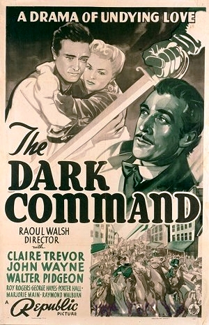 The Dark Command premiered in Lawrence in 1940 starring John Wayne, Claire Trevor, and Walter Pidgeon.