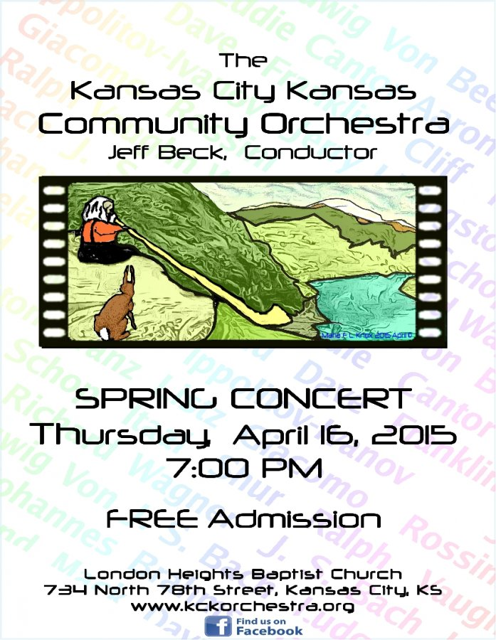 Flyer for Kansas City Kansas Community Orchestra Spring Concert