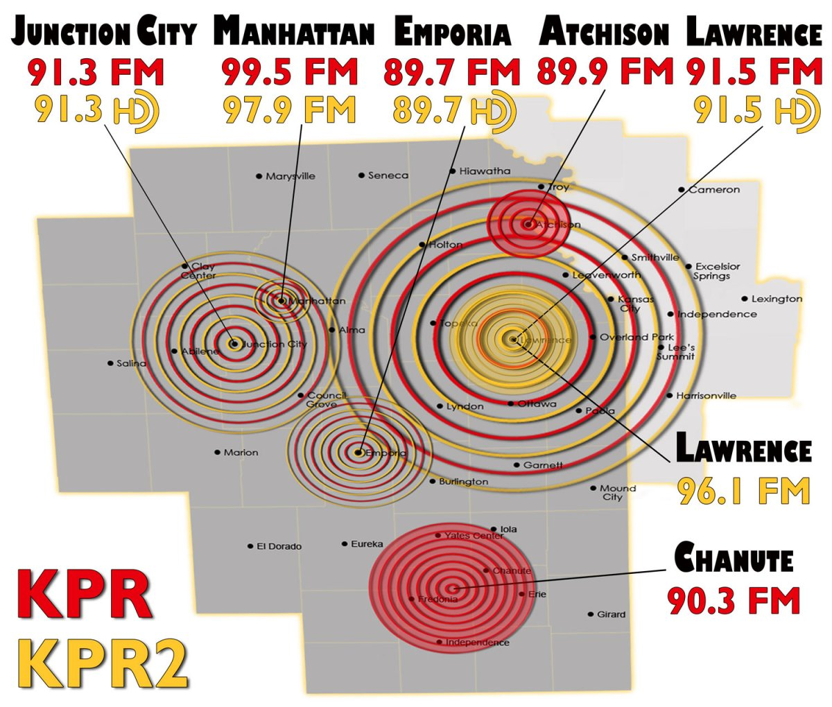 Coverage map for KPR and KPR2