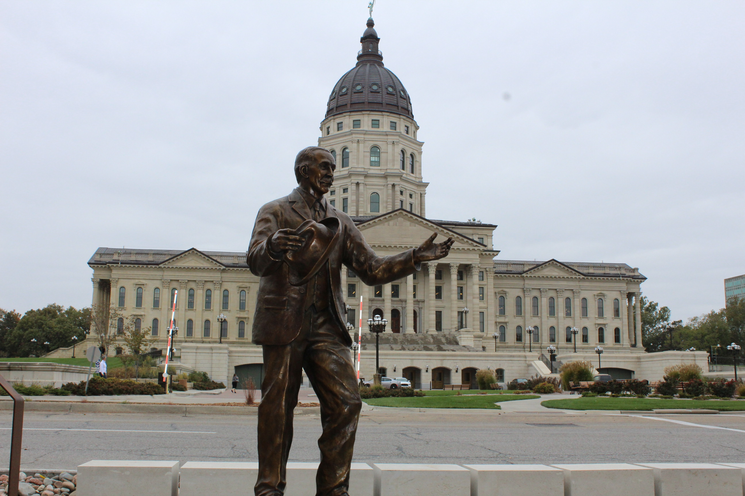 Statue of Dr. Samuel Crumbine, across the street from the Kansas Statehouse, in Topeka.  (Photo by J. Schafer)