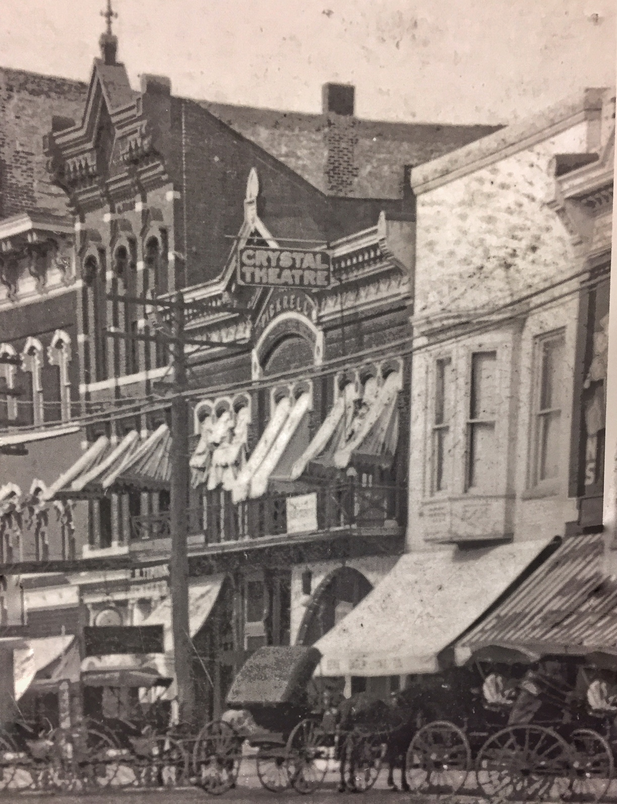 The Crystal Theatre, later to be known as the Plaza Cinema, in Ottawa, circa 1910. (Courtesy of the Franklin County Historical Society)