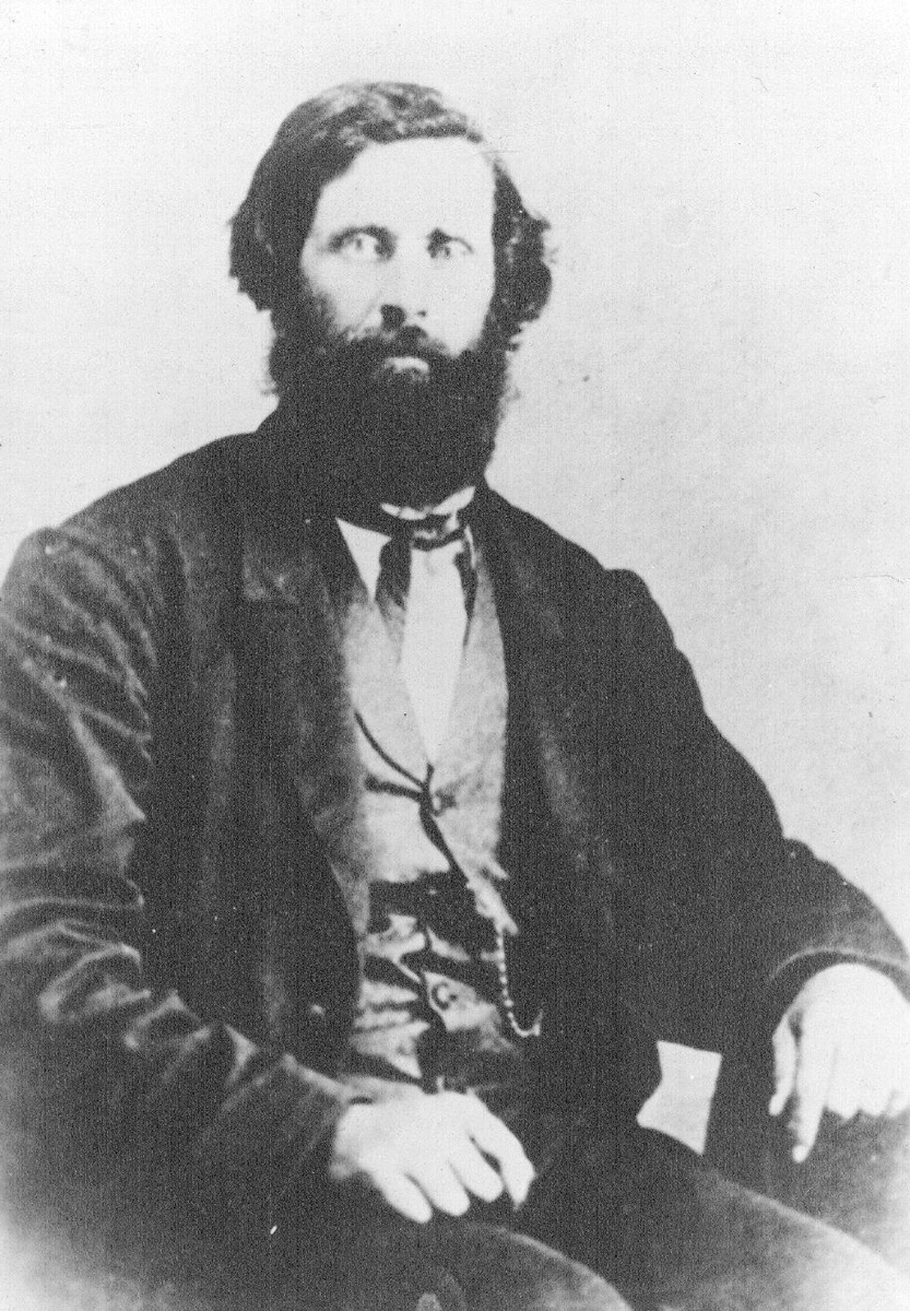 "Dr. Brewster Higley, author of the song ""Home on the Range."" It was officially recognized as the state song of Kansas on June 30, 1947. Date: 1880s (Photo Courtesy of Kansas Historical Society / kansasmemory.org)"