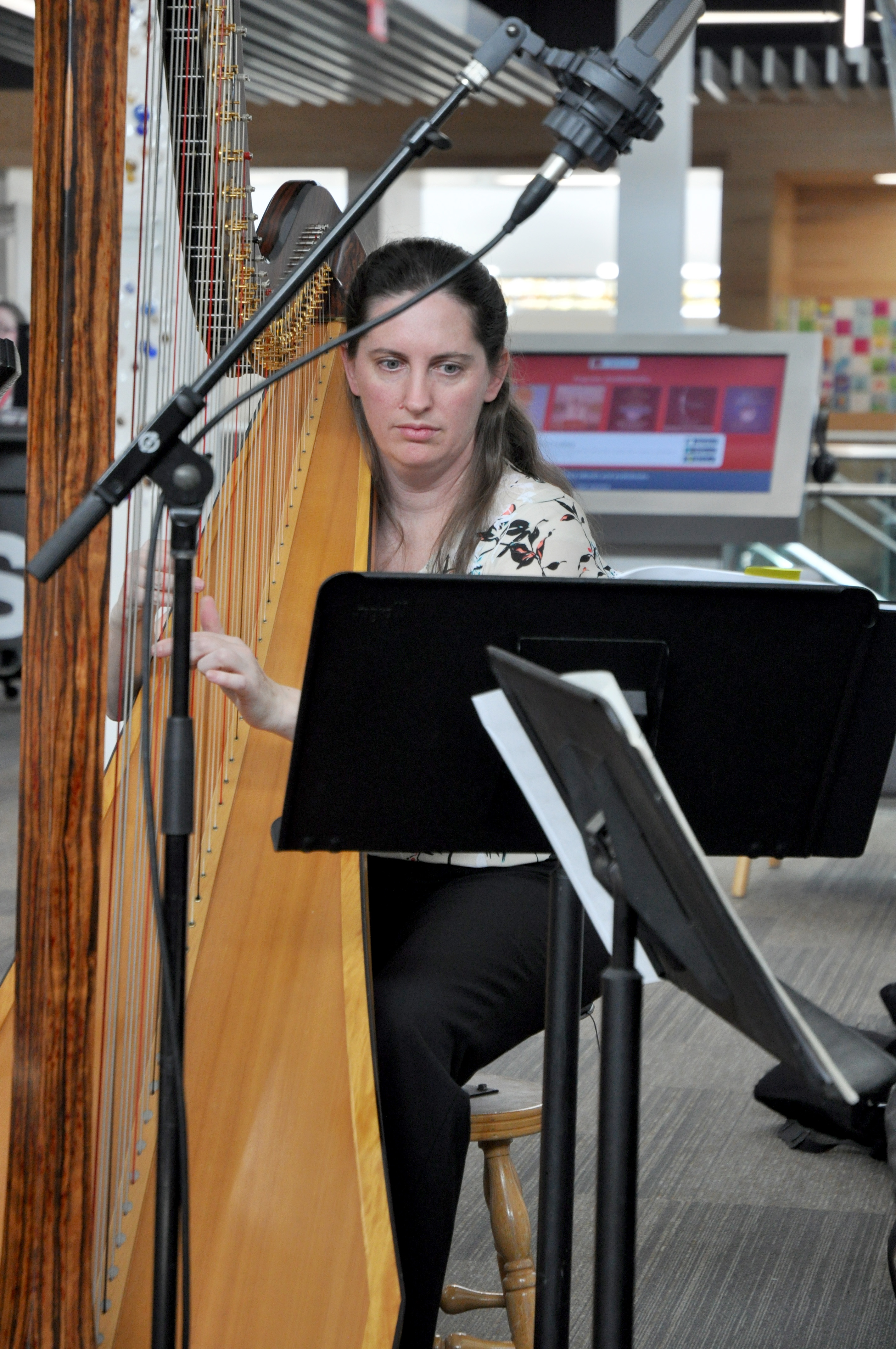 Erin Wood on harp.