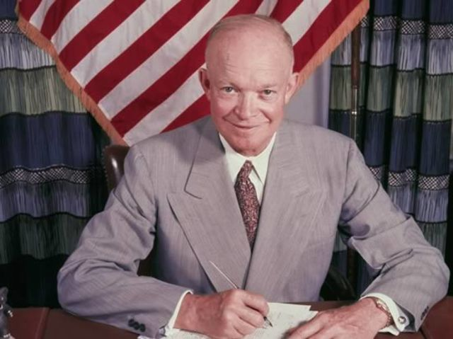 Dwight D. Eisenhower, 34th President of the United States. We like Ike!