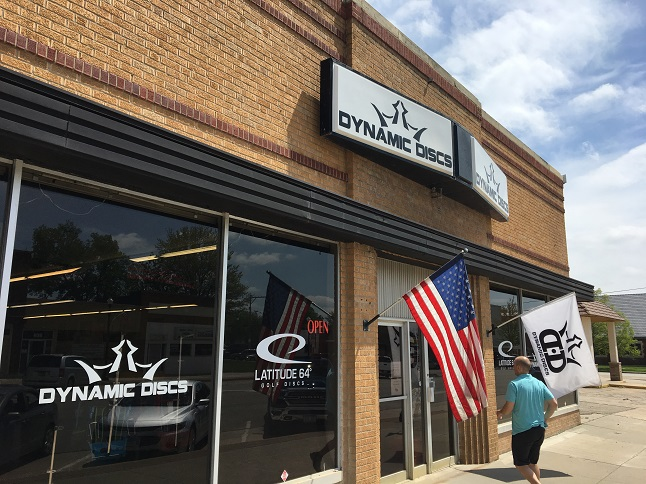 Dynamic Discs in downtown Emporia supplies all the equipment needed to play disc golf.