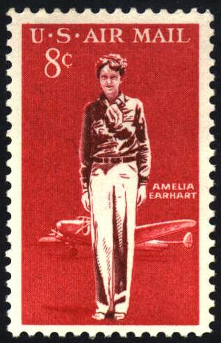 Issued in 1963, this U.S. Air Mail stamp honors Atchison's favorite aviator, Amelia Earhart