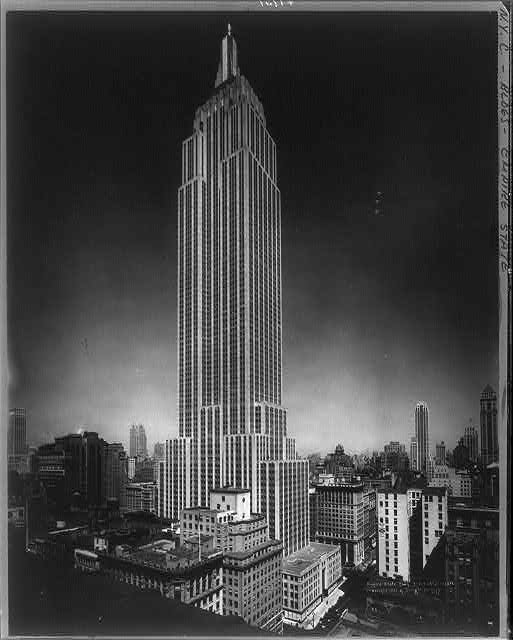 The Empire State Building, completed in a dizzying 11 months, as it stood in April 1931. (Photo via Library of Congress)