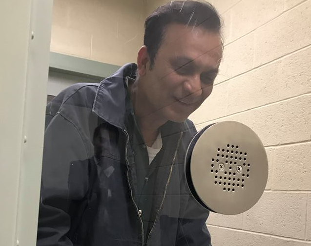 Syed Jamal in detention in El Paso, Texas, before ICE agents put him on a plane to Bangladesh. (photo courtesy of Sharma-Crawford Attorneys at Law)