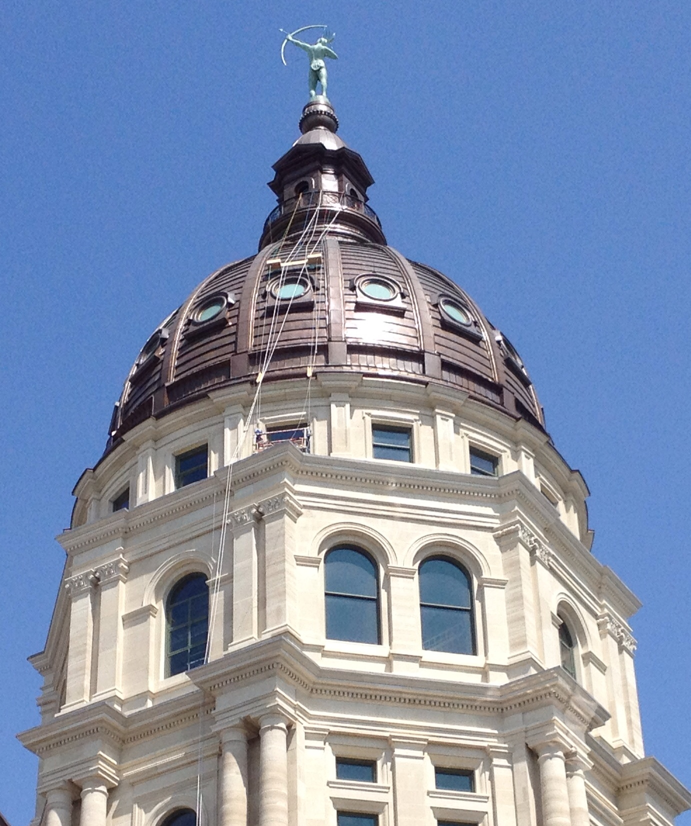 Kansas Statehouse dome (Photo by J. Schafer)