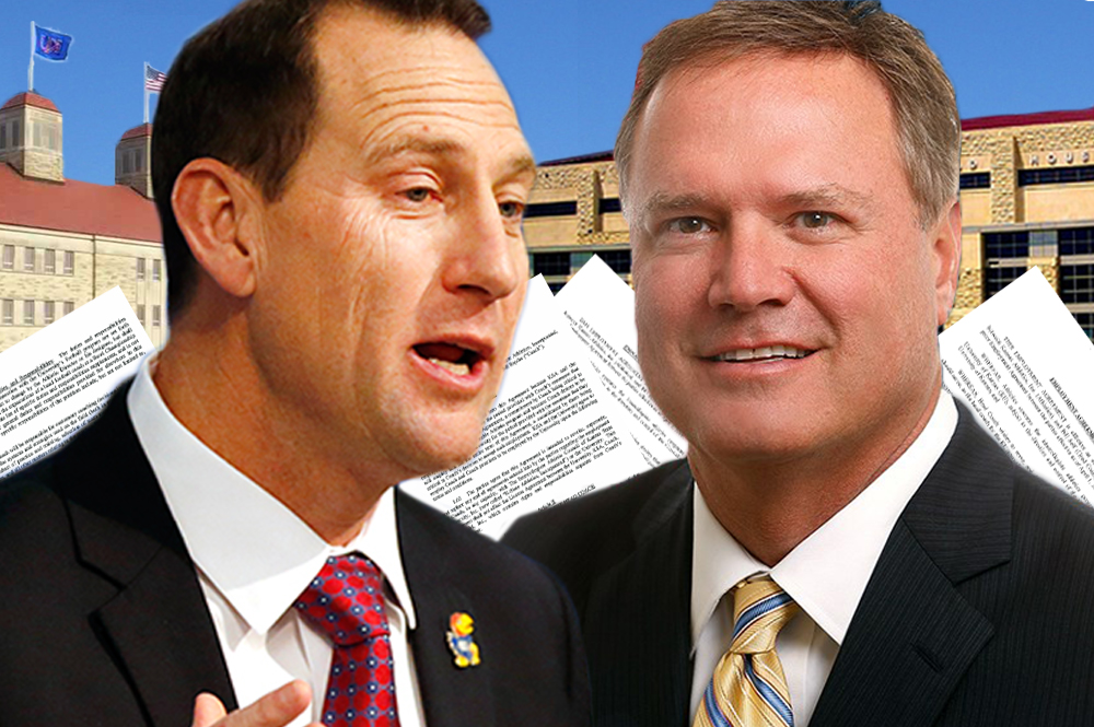 Both top KU coaches, David Beaty (left) and Bill Self, have LLCs that reduce the amount they owe in Kansas income taxes. (Photo credit: KCUR 89.3 FM)