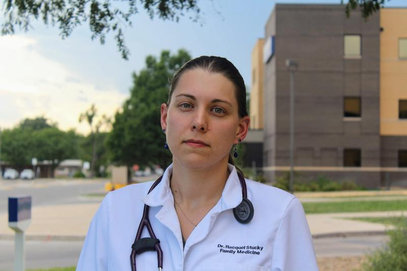 Racquel Stucky is a family medicine physician in Finney County who specializes in preventative medicine. (Photo by Corrine Boyer, High Plains Public Radio / Kansas News Service)