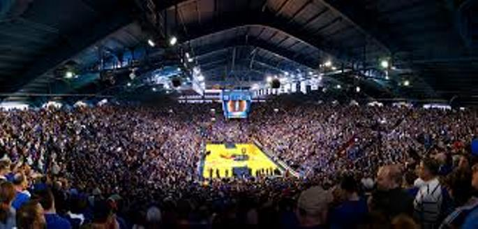 The crowd at Allen Fieldhouse broke the Guinness world record for the loudest indoor sports arena Monday night.