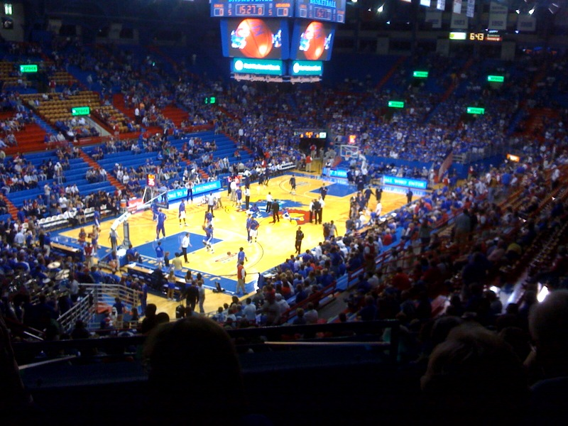 File photo of Allen Fieldhouse in Lawrence (Wikipedia)