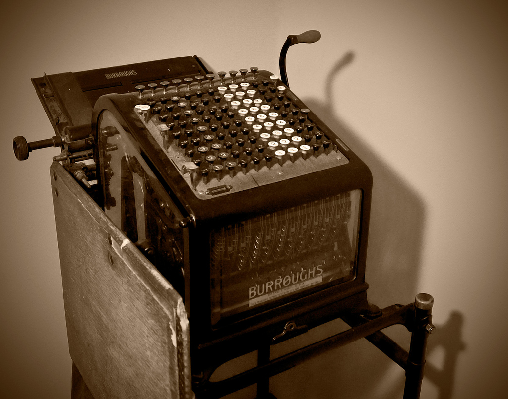a Burroughs accounting machine (photo credit: Chris Kennedy, via commons.wikimedia.org)