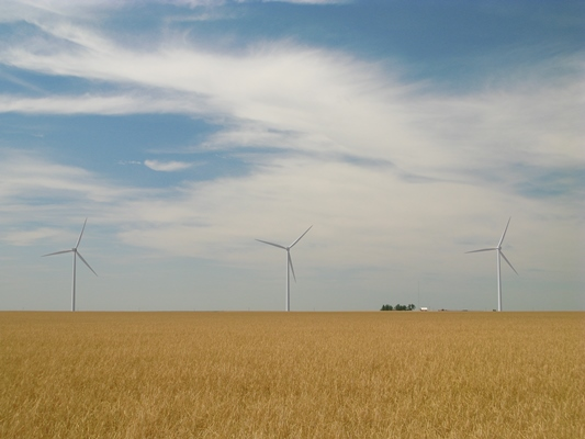 The Cimarron Bend wind project in Clark County, Kansas (Photo credit: Tradewind Energy)