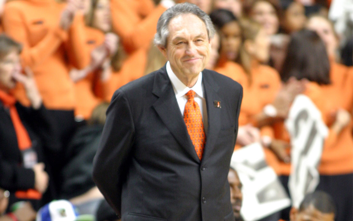 Former Oklahoma State men's basketball coach Eddie Sutton, a native of Bucklin, Kansas, has been elected to the Naismith Memorial Hall of Fame as part of the 2020 class of inductees.  (Photo from OSU Athletics)