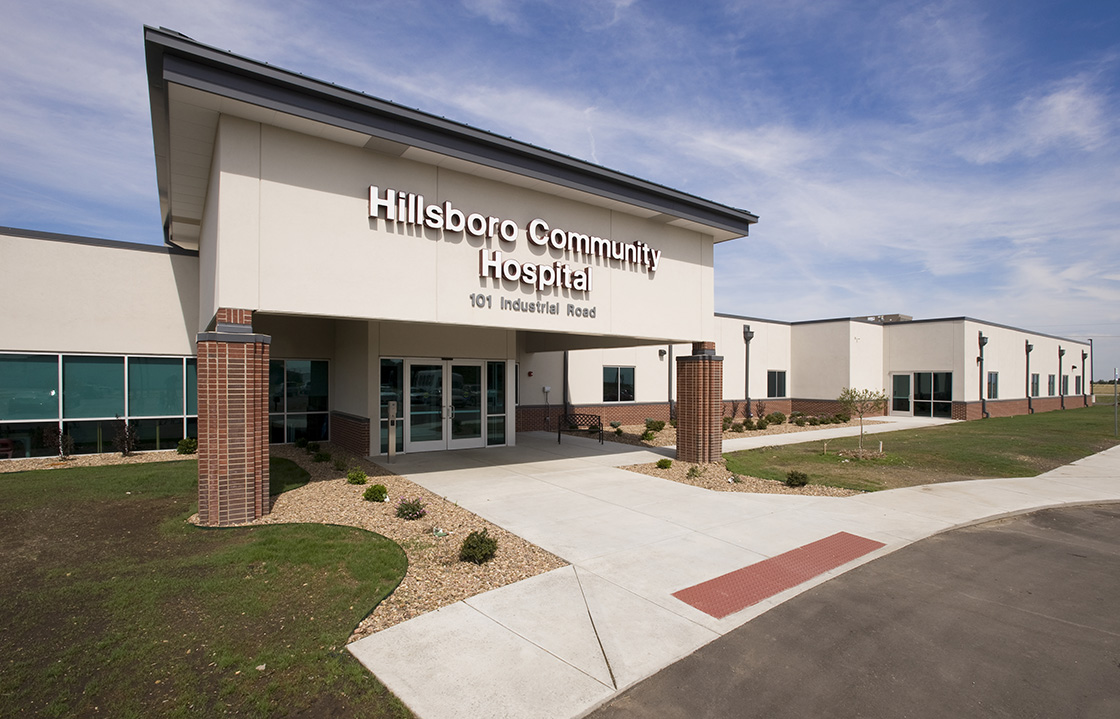 Hillsboro Community Hospital in Hillsboro, Kansas, about 50 miles north of Wichita, has kept its doors open through a receivership and bankruptcy. (Photo from Hillsboro Chamber)
