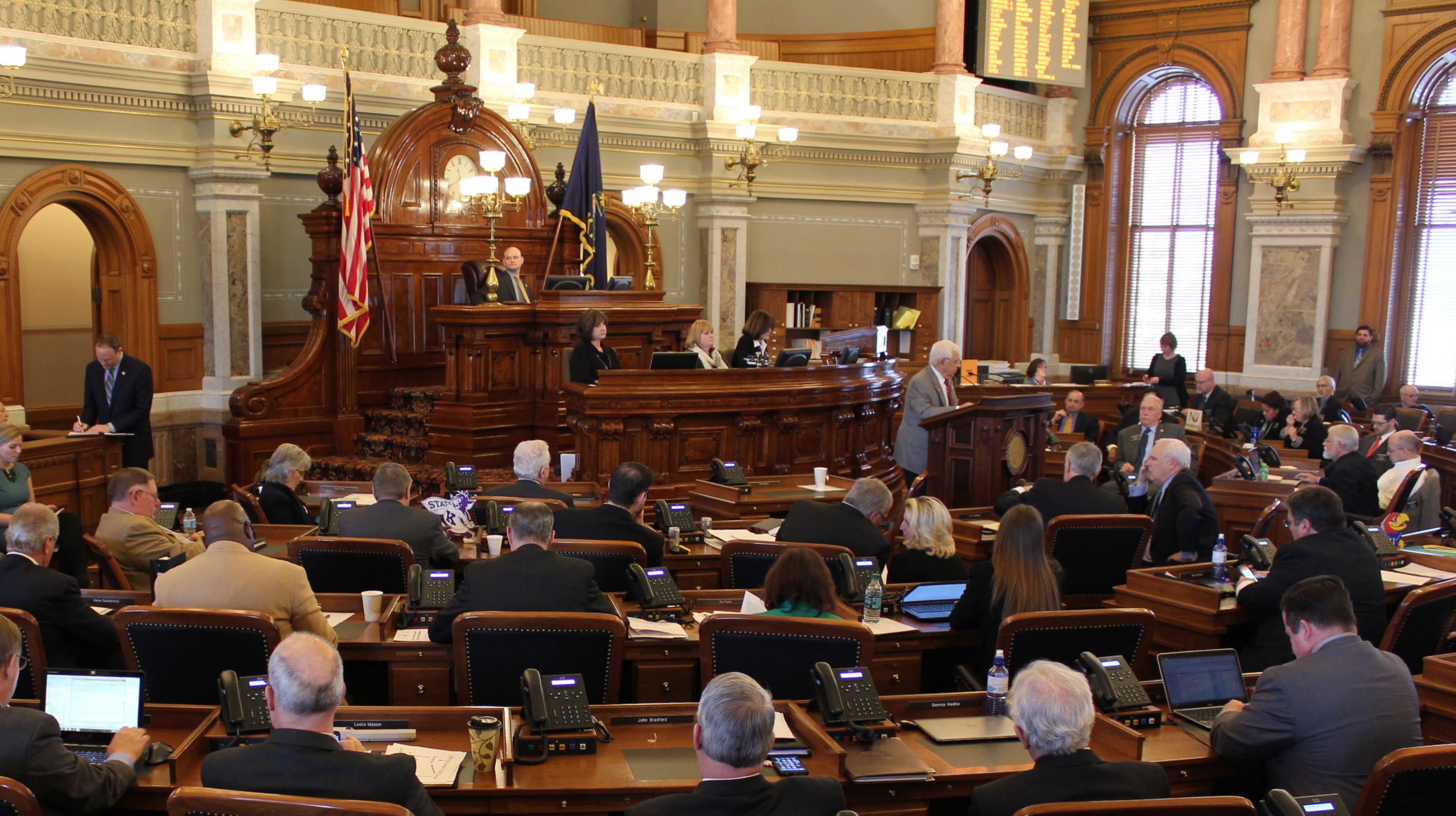 The Kansas House during the debate. (Photo by Stephen Koranda)