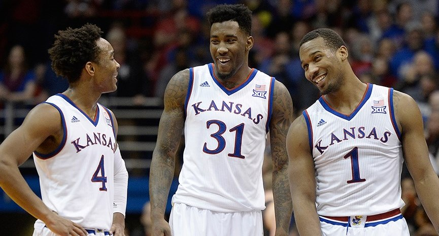 KU players Devonte Graham, Jamari Traylor and Wayne Selden Jr. (Photo: kuathletics.com)