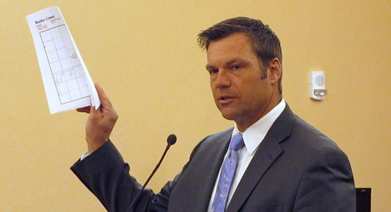 "Kobach says the115 names on his list of non-citizens who registered to vote in Kansas represent ""just the tip of the iceberg."""