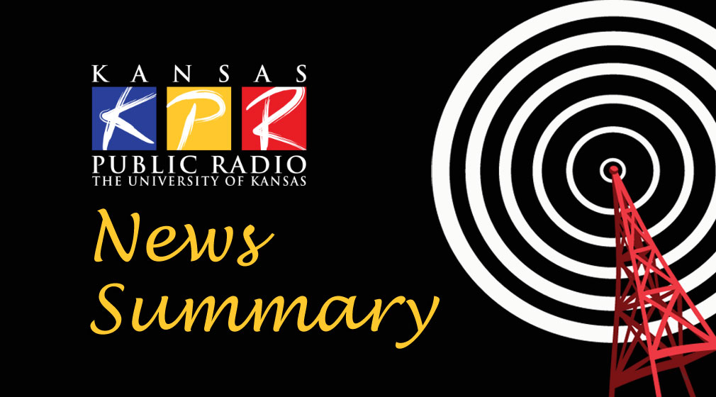 Here's a look at Kansas news headlines from the Associated Press, as compiled by the KPR News Team.