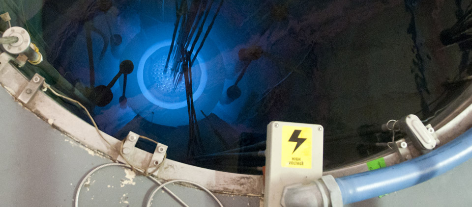 View of the K-State nuclear reactor (Image credit: The K-State Collegian)