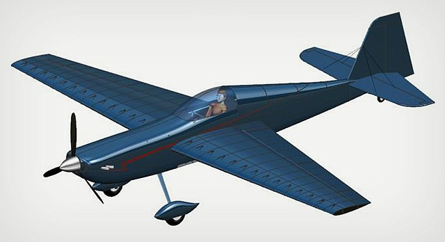 """The """"Screamin' Dingo"""" is the name of this proposed aerobatic, competition-grade aircraft, designed by KU engineering students. Their design took top honors in an international aircraft design competition."""