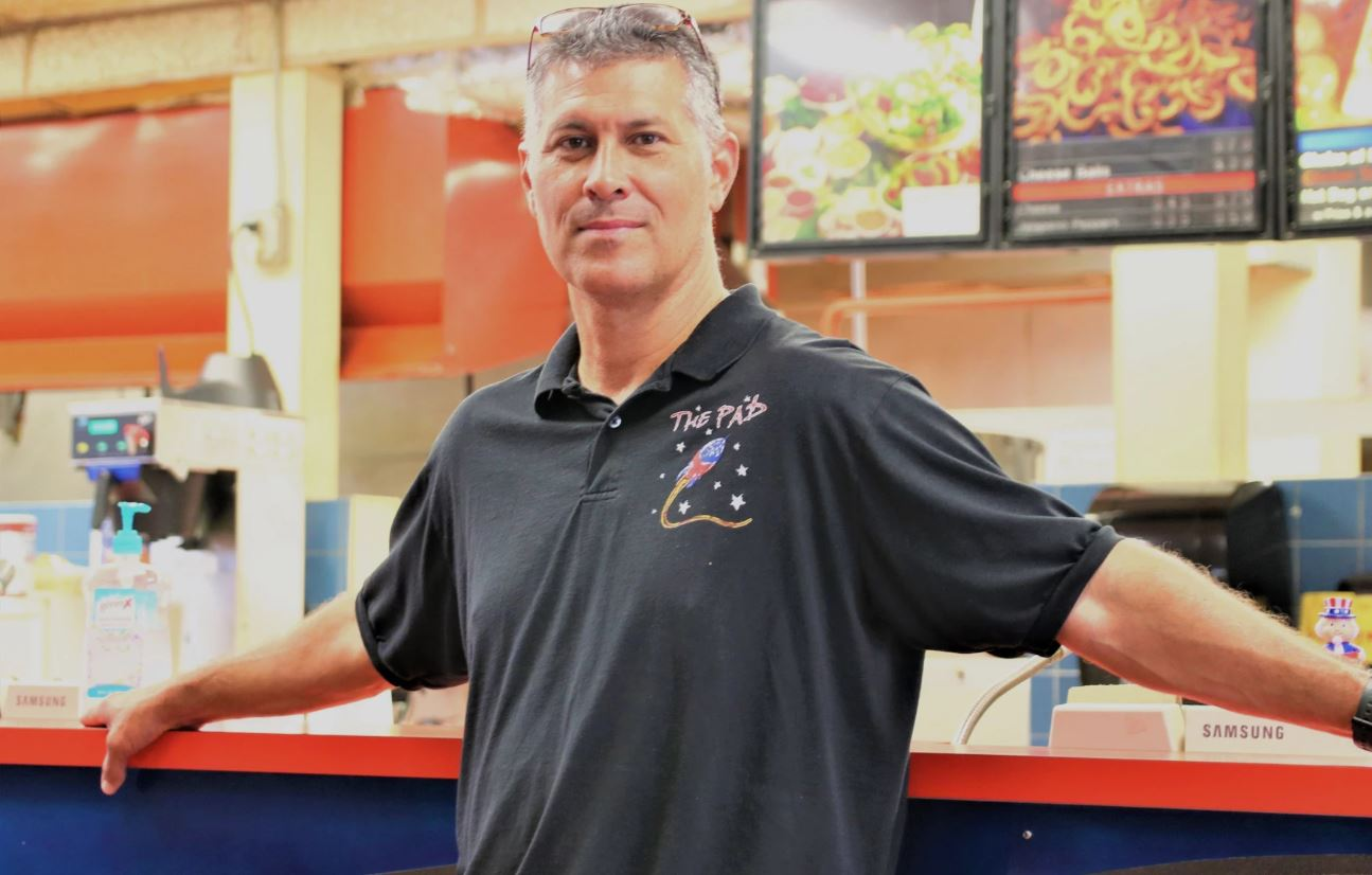 Troy Mentzer is an owner of The Pad, a restaurant in Topeka that received a federal loan during the coronavirus. (Photo by Jim McLean, Kansas News Service)