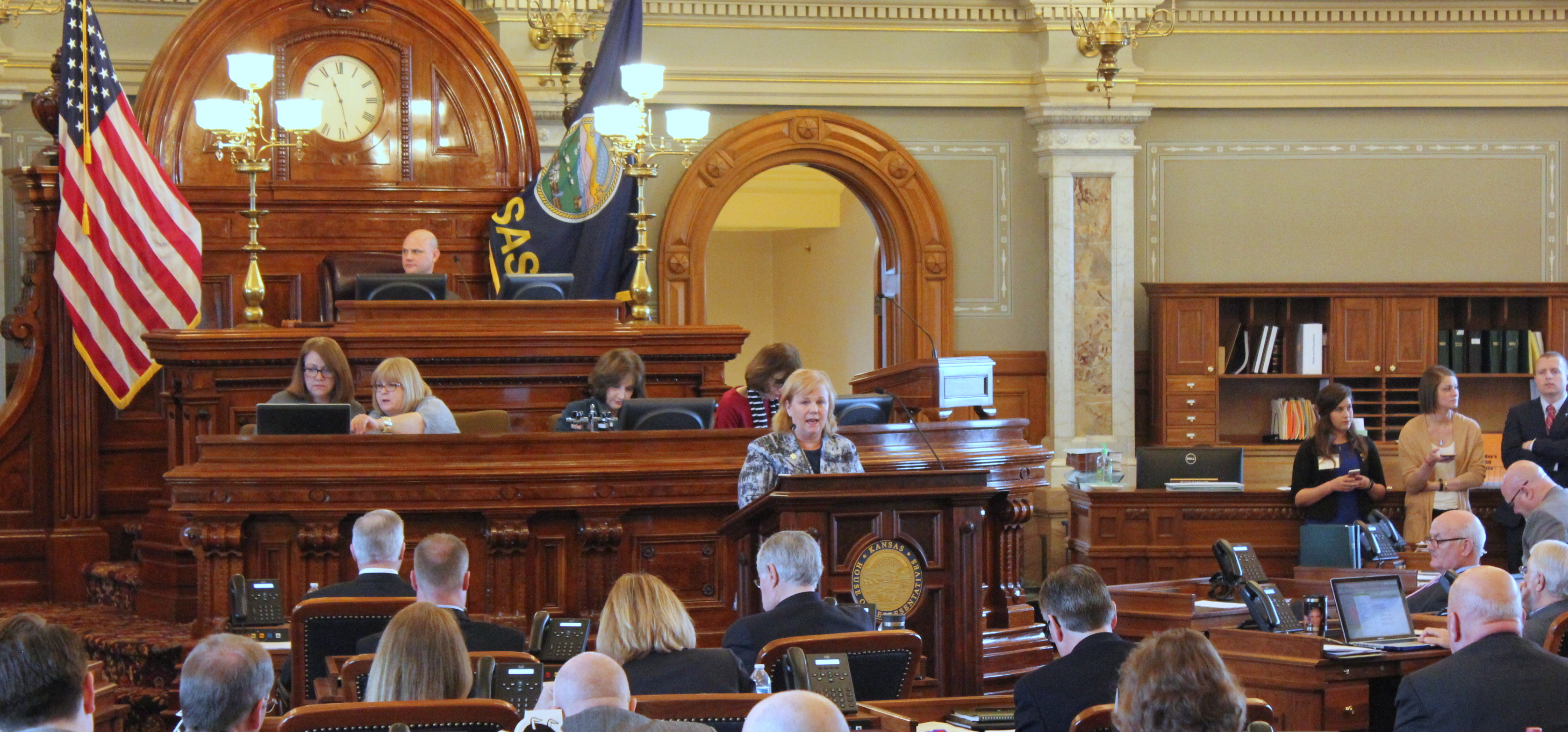 A debate in the Kansas House earlier this session. (Photo by Stephen Koranda)