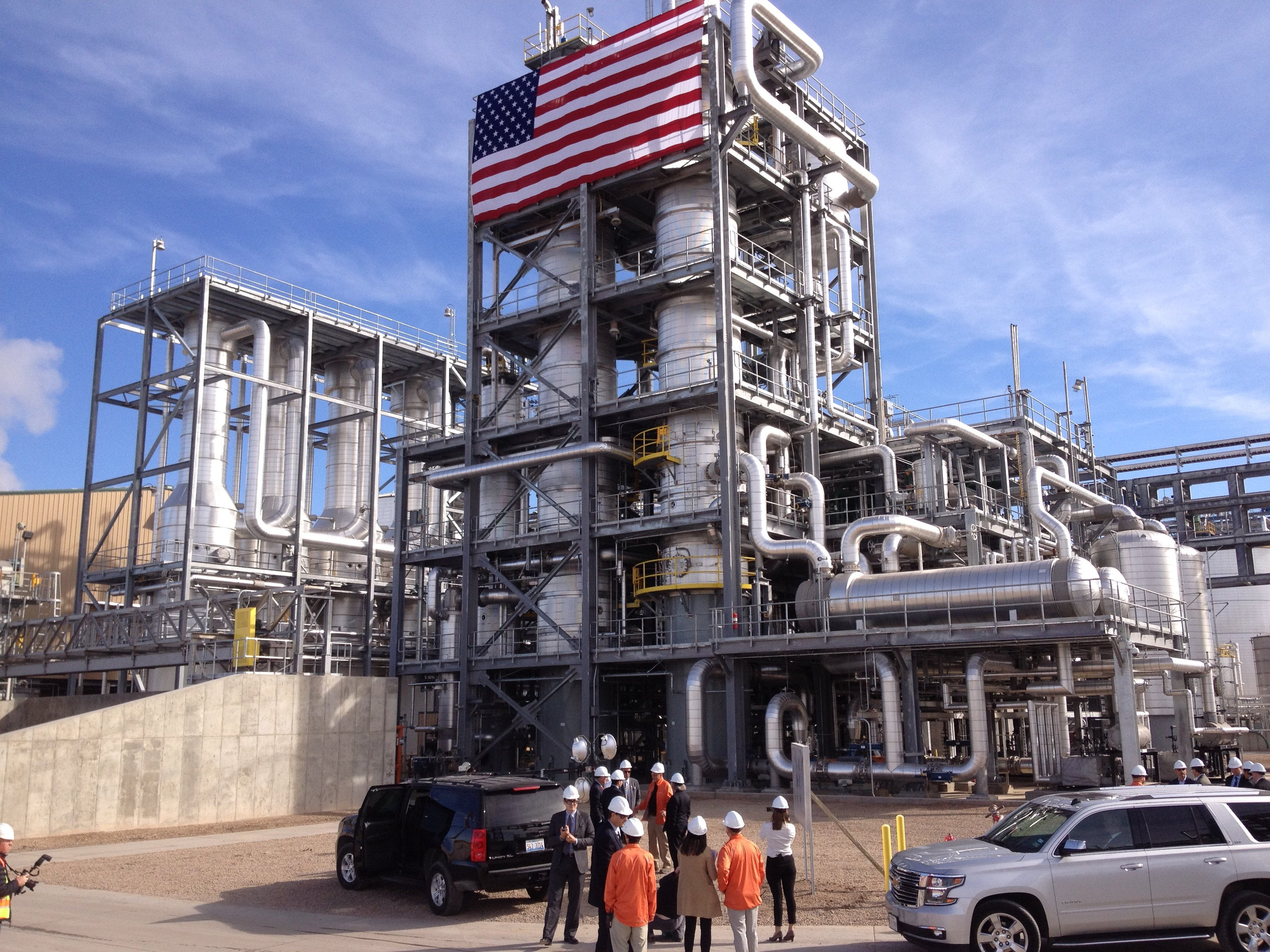 The new Abengoa cellulosic ethanol plant near Hugoton, KS (Photo by Bryan Thompson)