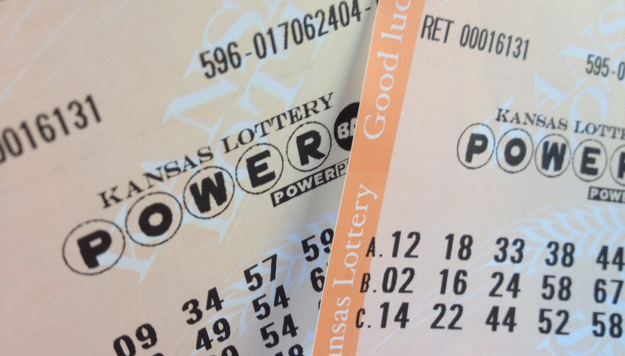 Kansas Lottery tickets. These particular tickets, for the multi-state Powerball game, were losers. That's why I'm writing cutlines instead of yachting. (Photo by J. Schafer)